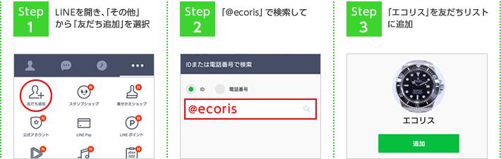 LINEへのお友達登録方法